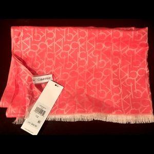 Calvin Klein Viscose Scarf/Wrap color Coral